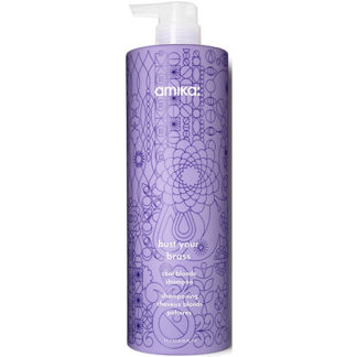 Amika Bust Your Brass Cool Blonde Shampoo 1000ml